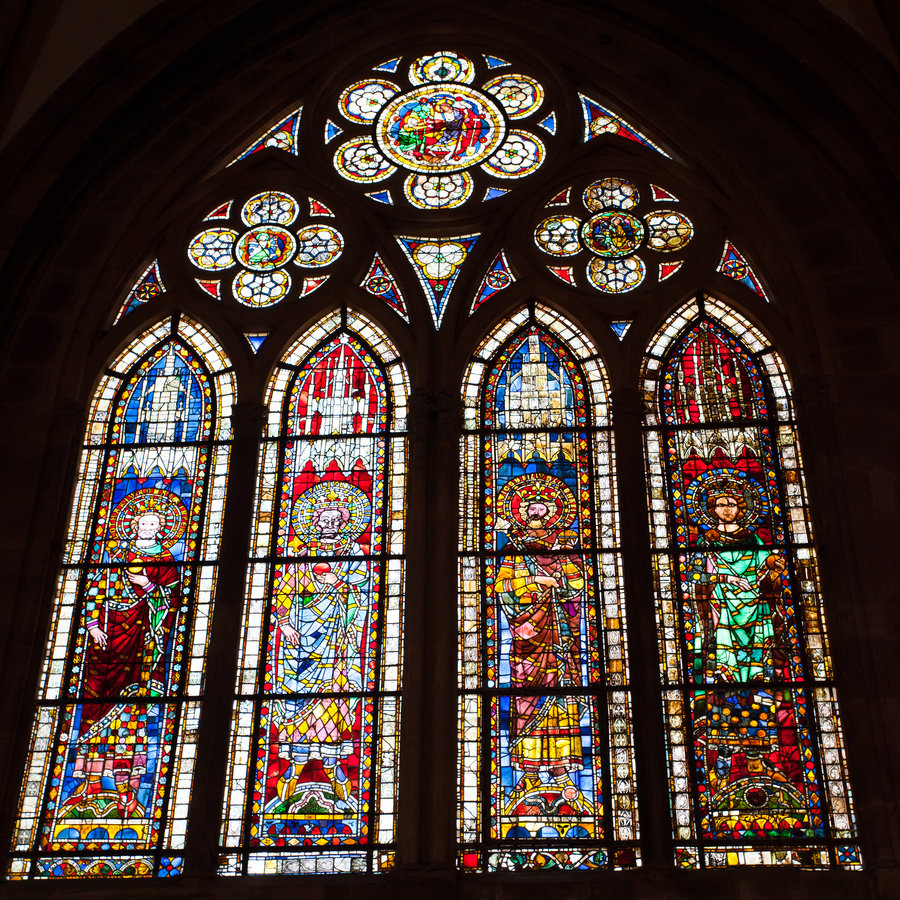 Stained Glass Windows : Body of christ follow the light