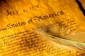 declaration-of-independence-and-a-feather