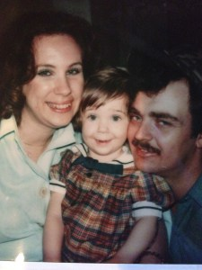 My mom and dad with me when I was almost 3